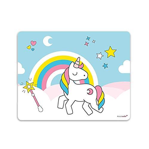 Einhorn-Mauspad I 24 x 19 cm I Mousepad in Standard-Größe, Rutschfest I Regenbogen Motiv süß I für Mädchen Kinder Teenager I dv_144 (Kinder Maus-pad Für)
