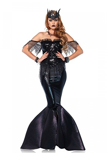 Dark Water Siren von Leg Avenue Mermaid Meerjungfrau Schwarz, Größe:L (Sirene Kostüm)