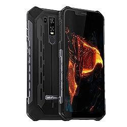 Ulefone Armor 6 2019 Outdoor Handy Wasserdicht, 6GB + 128GB Helio P60 Prozessor IP69K Robust Smartphone Qi fähig, 6.2 Zoll 21MP + 13MP + 13MP Kameras, 5000mAh Akku, Globale LTE, UV-Detektor, Schwarz
