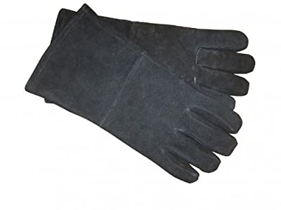 Stovax Black Heat Resistant 100% Leather Gloves
