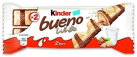 kinder Bueno mit weißer Schokolade im 2er Pack, 30er Pack (30 x 39 g)