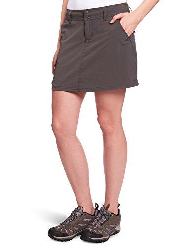 Columbia Hosenrock für Damen, Silver Ridge Skort, Ripstop Nylon, grau (Grill), Größe: 8, AL4006 -