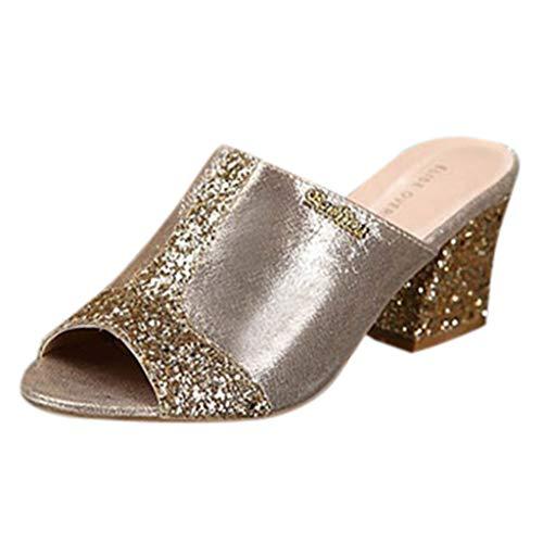Sandali donna con tacco sandali con scarpe col tacco alto da sandali eleganti moda scivolare tacco alto peep toe cristallo pantofola casuale sandali scarpe