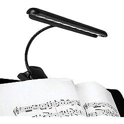 Hellion - Lampe pour pupitre portable flexible 9 LEDs - Pour lecture de partitions - Intensité variable avec 2 niveaux de luminosité - Alimenté par clé USB ou piles (câble USB inclus) - [Classe A++]
