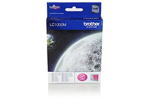 nd für Brother DCP-770 CW Brother LC1000M LC-1000M - Premium Drucker-Patrone - Magenta - 400 Seiten - 11 ml ()