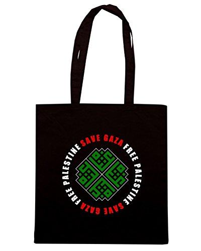 T-Shirtshock - Borsa Shopping TM0581 save gaza free palestine gaza edited Nero