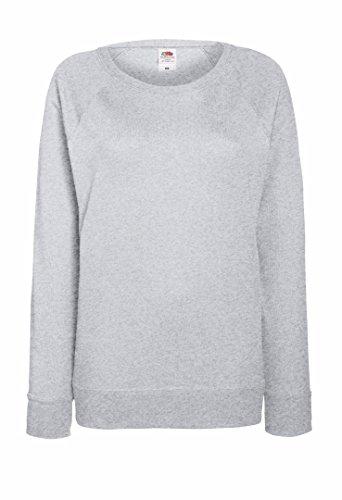 Fruit of the Loom leichtes Sweatshirt mit Raglanärmel, für Damen Grau - Heather