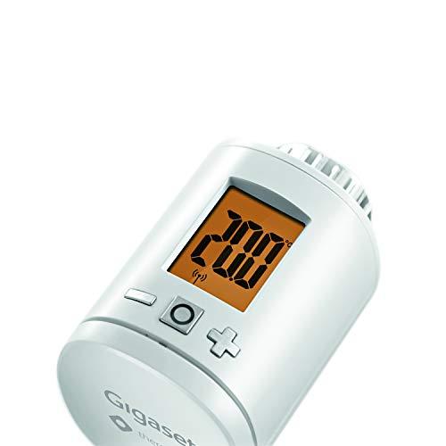 Gigaset Set-Ergänzung smart Thermostat (mit intelligenter App-Steuerung, intelligentes Heizungsthermostat spart bis zu 30{dc3f01993f489d455c7fefdbad00ef3d0643c78b7a11ff8961fe48448f799336} der Heizkosten, mit kostenfreier App)