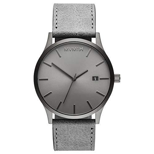 MVMT Klassische Armbanduhr, 45 mm, analoge Minimalistische Armbanduhr, Monochrom