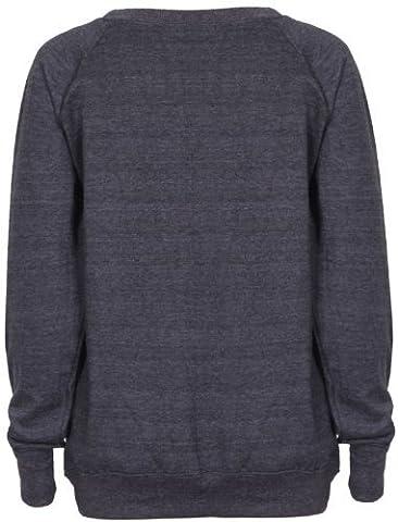 Womens Brooklyn New York Athletic 76 Varsity Print Ladies Long Raglan Sleeves Crew Neckline Sweatshirt Jumper Top Dark Grey Size 8 -