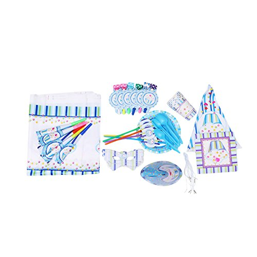 Amosfun Ice Cream Theme Geburtstag Party Supplies Pack Geschirr Kit Party Supply Set für Kinder Geburtstag und Feier