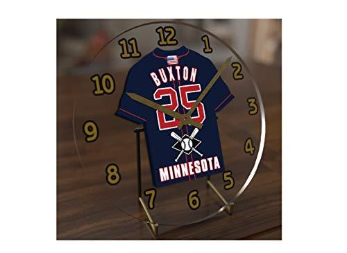 MyShirt123 Major League Baseball-American League MLB Jersey Desktop Uhren-Jeder Name, beliebige, jedes Team, kostenlose Personalisierung. Minnesota Twins
