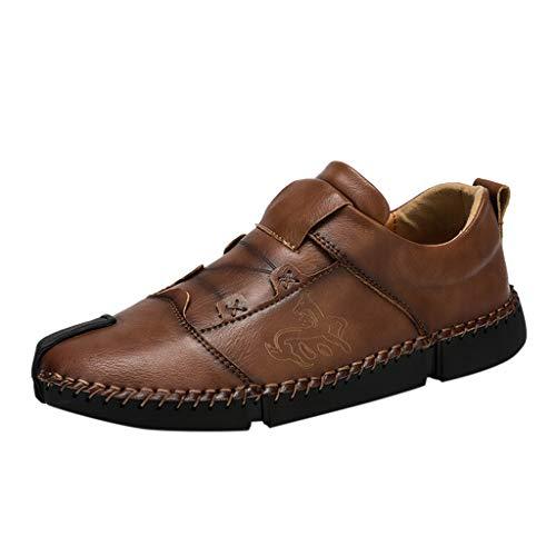 Herren Mesh Ultraleicht Sportlich und Atmungsaktiv Sicherheitsschuhe rutschfest Jogger Turnschuhe,Beiläufige Breathable lederne Schuhe der Art- und Weisemänner runde Hauptwildleder-Schuhe - Buckle Thigh High Boot