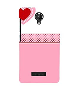 Love Heart Design 3D Hard Polycarbonate Designer Back Case Cover for Micromax Canvas Spark Q380
