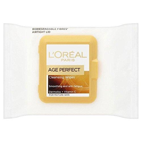 L'Oréal Paris Age Perfect Skin âge mûr lisse Lingettes démaquillantes Peau Mature (25) - Paquet de 6