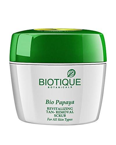 Biotique Bio Papaya Revitalizing Tan-Removal Scrub for All Skin Types, 235g