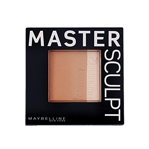 Maybelline Master Sculpt Kontur-Duo-Puder in Medium-Dark, 2-in-1 Puder zum Konturieren des Gesichts, Vorzüge werden hervorgehoben, Problemzonen kaschiert, mit integriertem Spezialpinsel, 9 g