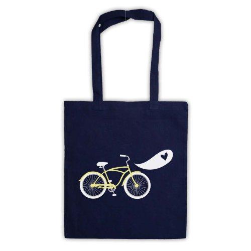 Bicicletta Love Retro Illustration Borsa Navy blue