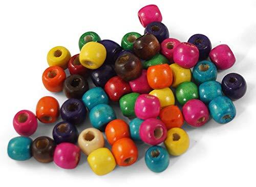 erlen zum Auffädeln 13mm x 12mm mit großem Loch (5mm), z.B. für Dreads, Dreadlocks, Braids oder Makramee ✪ Dread-Perlen zum Fädeln ()