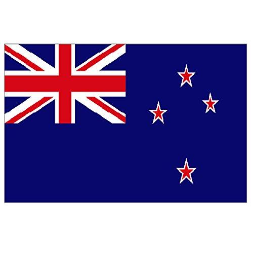 Supportershop-Drapeau Nouvelle Zélande polyester avec 2 œillets metalliques - 150 x 90 cm