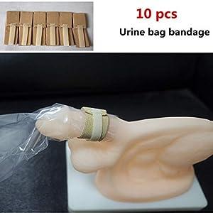Männlicher Urin-Taschen-Verband-Inkontinenz-Hilfe, Rutschfestes Weg Von Festem Gurt, Wiederverwendbar (10 PC)
