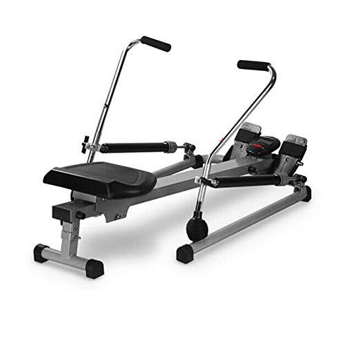 CHENSHJI Fitnessgeräte Rudergerät Home Silent Hydraulic Rudergerät Multifunktions-Klapprudergerät Rudergerät Rudergerät (Color : Black, Size : 112x73x75cm)