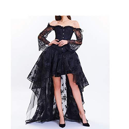 Korsett Kleid für Frauen Vintage Gothic Lace Korsett Top Sexy Kleidung ()