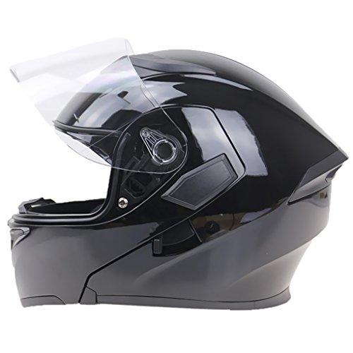 Dot Helm Motorrad Modular (MagiDeal 1 Stück Klapphelm Integralhelm Anti-Kratzer Motorradhelm Motorrad Zubehöre - Schwarz XXl)