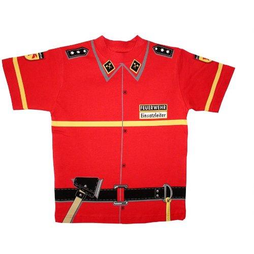 Kid's Shirt Feuerwehr T-Shirt rot, Größe 116
