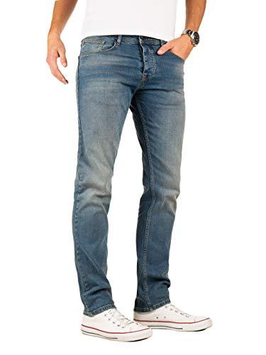 Yazubi Herren Jeans Edvin Slim - Jeans Hosen für Männer - Vintage Blaue Denim Stretch Hose Jeanshose Regular, Blau (Sky Captain 2R193922), W32/L34