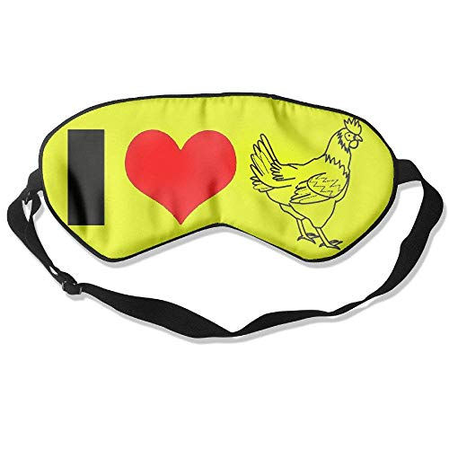 I Love My Chickens Natural Silk Sleep Mask -