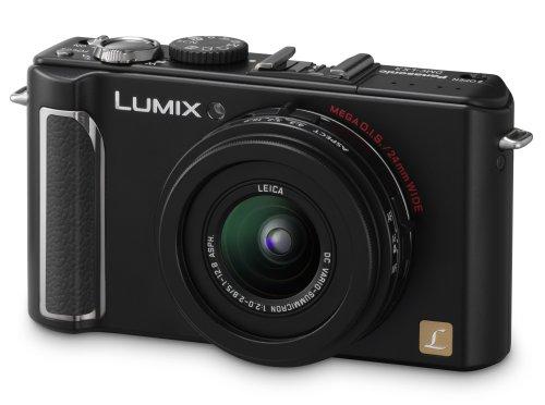 Panasonic Lumix DMC-LX3 Digitalkamera (10 Megapixel, 2.5-fach opt. Zoom, 7,6 cm (3 Zoll) Display, Bildstabilisator) schwarz Panasonic Super-zoom-kamera