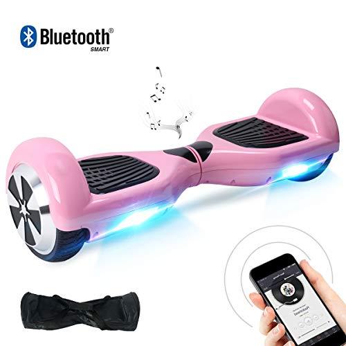 "BEBK Hoverboard, 6.5\"" Elektro Scooter mit APP Funktion, Bluetooth Lautsprecher, 700W Motor, LED, Self-Balance E-Skateboard (Black)"