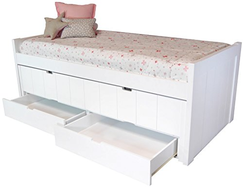 Cama infantil / juvenil dos camas con cajones en MDF (dm) 4 cm de grosor