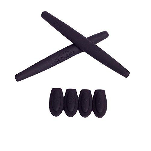 Walleva Earsocks und Tempelschocks für Oakley X-Metal Serie - Mehrere Optionen (Schwarz)