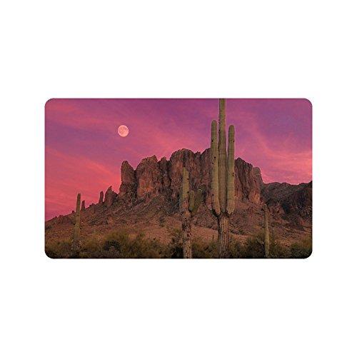 Desert Cactus Paillasson Tapis d'entrée Tapis de Sol Tapis Intérieur/extérieur/Avant de Porte de Salle de Bain/Tapis en Caoutchouc antidérapant de Taille 76,2 x 45,7 cm