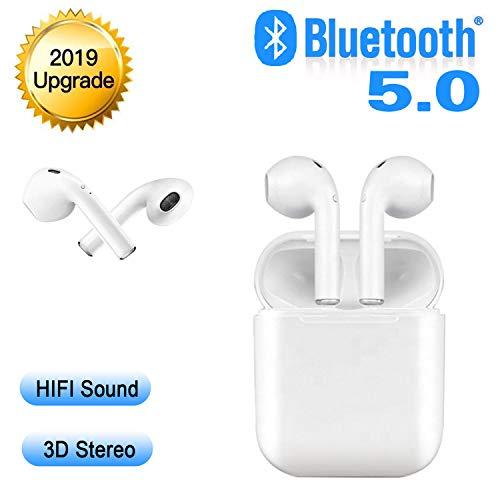 Bluetooth Kopfhörer,Bluetooth Headsets Wireless Headsets,in Ear Bluetooth 5.0 Headset Stereo-Minikopfhörer Sport Kabellose Kopfhörer Mikrofon für Apple Airpod Android iPhone/Samsung/Huawei