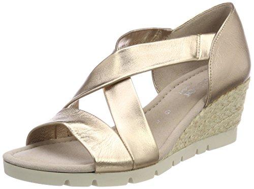 Gabor Shoes Damen Comfort Sport Riemchensandalen, Beige (Space (Jute), 38.5 EU