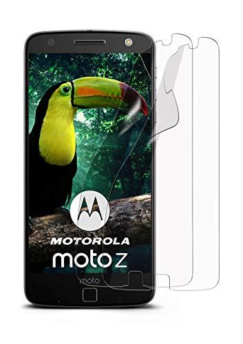 moex 2X Lenovo Moto Z | Schutzfolie Klar Bildschirm Schutz [Crystal-Clear] Screen Protector Display Handy-Folie Dünn Bildschirmschutz-Folie für Motorola Moto Z Bildschirmfolie