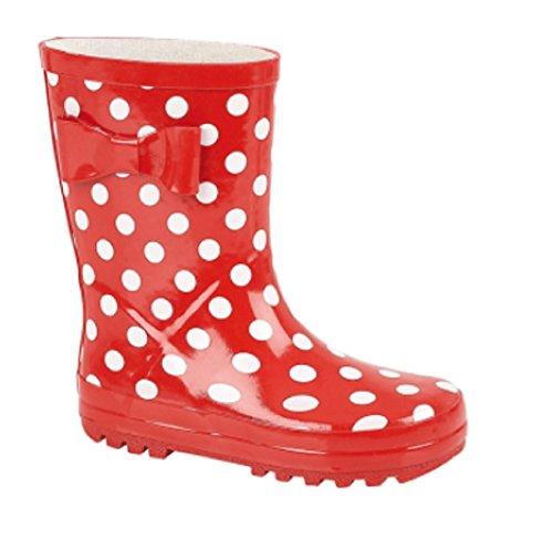 Kids Girls Wellies Wellys Wellington Rain Snow Boots Warm Winter Shoes Size UK 4 - 2