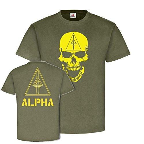 Delta Force T-shirts (Alpha - Delta Force US Army Skull Abzeichen Wappen Totenschädel Emblem Gruppe Hemd T-Shirt #21656, Größe:S, Farbe:Oliv)