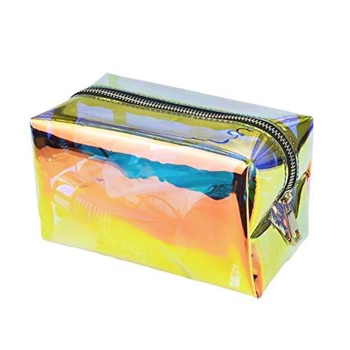 Hologramm Holographische Kosmetische Bleistift Tasche Mäppchen Handtasche Make-up Laser Aufbewahrungstasche (Color : A) -