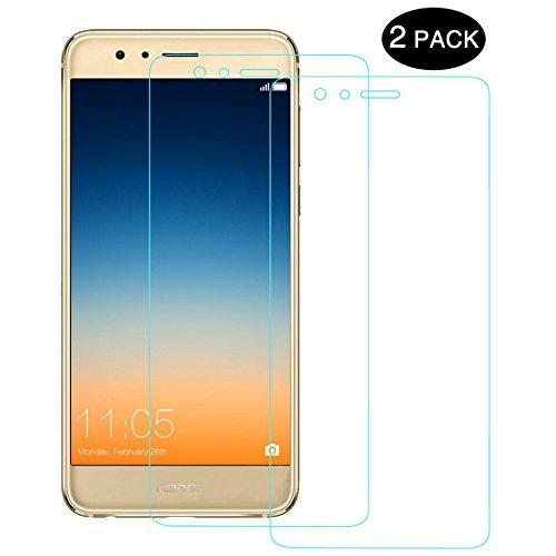 Huawei Honor 8 Schutzfolie, [2 Stück] Yotece Huawei Honor 8 Panzerglas, 9H Härtegrad, Utra Klar Glatt, perfekt schutz vor Wasser, Staub, Kratzern, Blasefrei, Fingerabdruck-frei