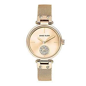 Anne Klein Ladies níquel Free Gold-tone Paracord with Swarovski Crystal