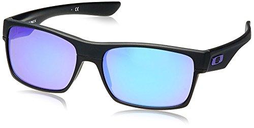 Oakley Herren Sonnenbrille 9189 TWOFASE, Gr. 4, Matte Schwarz/Violet Iridium (S3)