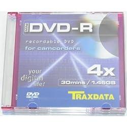 Traxdata 8cm Dvd-r 1.4gb Discs 3 Pack