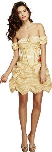 Fever, Damen Goldene Prinzessin Kostüm, Kleid, Größe: S, 20549 (Die Schöne Und Das Biest Kostüme Erwachsene)