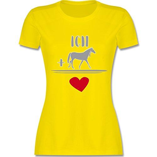 Shirtracer Pferde - Pferde-Liebe - Damen T-Shirt Rundhals Lemon Gelb