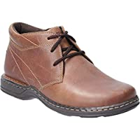 Hush Puppies Mens Reggie Lace Up Leather Casual Chukka Boots Brown