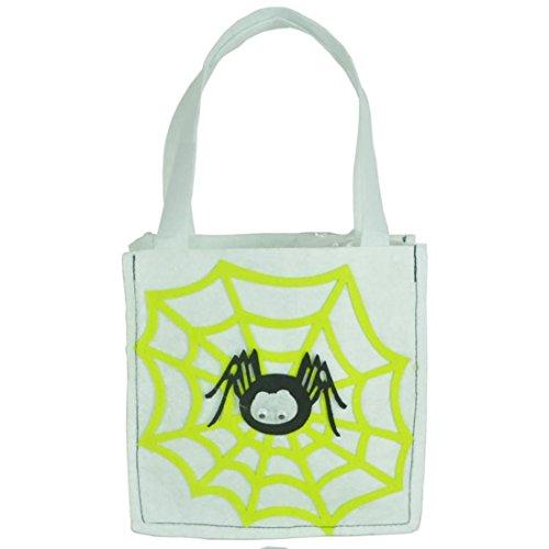 Goodsatar Halloween Schlägerbeutel Teufelsbeutel Süßigkeiten Handtasche Löffel Kinder (Grau)
